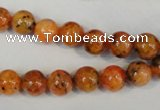 CLJ221 15.5 inches 8mm round dyed sesame jasper beads wholesale