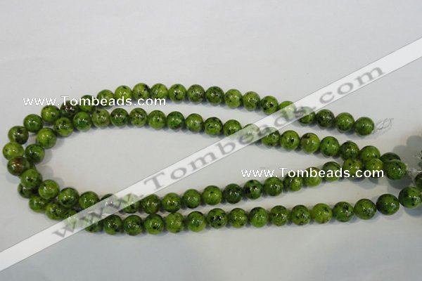 CLJ230 15.5 inches 10mm round dyed sesame jasper beads wholesale