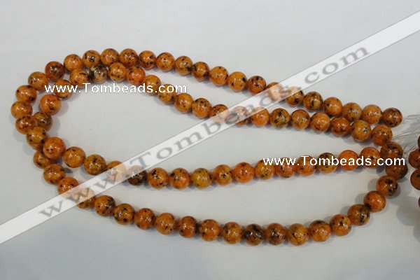 CLJ231 15.5 inches 10mm round dyed sesame jasper beads wholesale