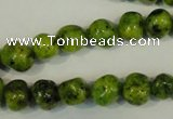 CLJ240 15.5 inches 10mm nuggets dyed sesame jasper beads wholesale