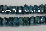 CLJ250 15.5 inches 6*11mm faceted nuggets dyed sesame jasper beads
