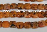 CLJ252 15.5 inches 8*8mm square dyed sesame jasper beads wholesale