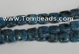 CLJ256 15.5 inches 8*8mm square dyed sesame jasper beads wholesale
