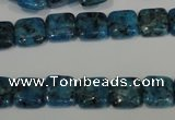 CLJ265 15.5 inches 10*10mm square dyed sesame jasper beads wholesale