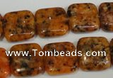 CLJ271 15.5 inches 16*16mm square dyed sesame jasper beads wholesale