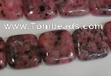 CLJ272 15.5 inches 16*16mm square dyed sesame jasper beads wholesale