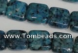 CLJ275 15.5 inches 16*16mm square dyed sesame jasper beads wholesale