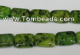 CLJ280 15.5 inches 10*14mm rectangle dyed sesame jasper beads wholesale