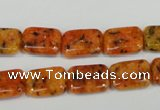 CLJ281 15.5 inches 10*14mm rectangle dyed sesame jasper beads wholesale