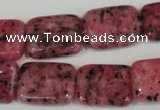 CLJ292 15.5 inches 15*20mm rectangle dyed sesame jasper beads wholesale