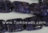 CLJ293 15.5 inches 15*20mm rectangle dyed sesame jasper beads wholesale