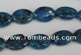 CLJ320 15.5 inches 10*14mm oval dyed sesame jasper beads wholesale