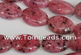 CLJ323 15.5 inches 13*18mm oval dyed sesame jasper beads wholesale