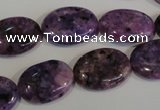 CLJ324 15.5 inches 13*18mm oval dyed sesame jasper beads wholesale