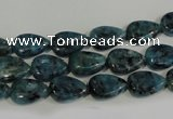 CLJ333 15.5 inches 8*12mm flat teardrop dyed sesame jasper beads