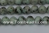 CLJ400 15.5 inches 4mm round sesame jasper beads wholesale