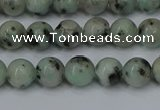 CLJ401 15.5 inches 6mm round sesame jasper beads wholesale