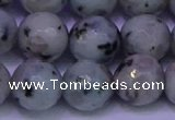 CLJ425 15.5 inches 14mm faceted round sesame jasper beads