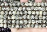 CLJ502 15.5 inches 4mm,6mm,8mm,10mm & 12mm round sesame jasper beads
