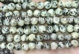 CLJ552 15.5 inches 6mm,8mm,10mm & 12mm faceted round sesame jasper beads
