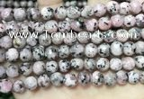 CLJ554 15.5 inches 6mm,8mm,10mm & 12mm faceted round sesame jasper beads