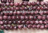 CLJ556 15.5 inches 6mm,8mm,10mm & 12mm faceted round sesame jasper beads