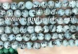 CLJ557 15.5 inches 6mm,8mm,10mm & 12mm faceted round sesame jasper beads