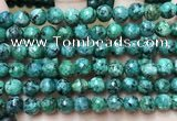 CLJ559 15.5 inches 6mm,8mm,10mm & 12mm faceted round sesame jasper beads