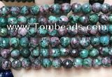 CLJ562 15.5 inches 6mm,8mm,10mm & 12mm faceted round sesame jasper beads
