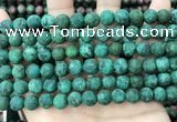 CLJ594 15 inches 8mm round matte sesame jasper beads