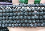 CLJ598 15 inches 8mm round matte sesame jasper beads