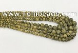 CLJ611 6mm - 14mm round sesame jasper graduated beads