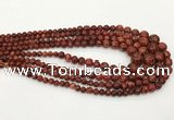 CLJ614 6mm - 14mm round sesame jasper graduated beads