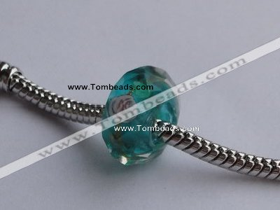 CLNP09 20pcs 8*14mm faceted roundel lampwork glass European beads