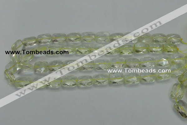 CLQ101 15 inches 13*18mm faceted rectangle natural lemon quartz beads