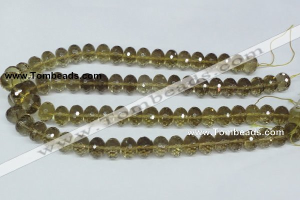 CLQ15 15.5 inches 8*12mm faceted rondelle natural lemon quartz beads