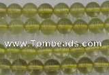 CLQ152 15.5 inches 8mm round natural lemon quartz beads wholesale