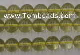 CLQ153 15.5 inches 10mm round natural lemon quartz beads wholesale