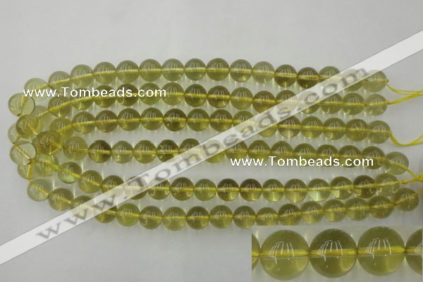 CLQ154 15.5 inches 12mm round natural lemon quartz beads wholesale