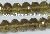 CLQ16 15.5 inches 10*14mm faceted rondelle natural lemon quartz beads