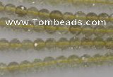 CLQ161 15.5 inches 6mm faceted round natural lemon quartz beads