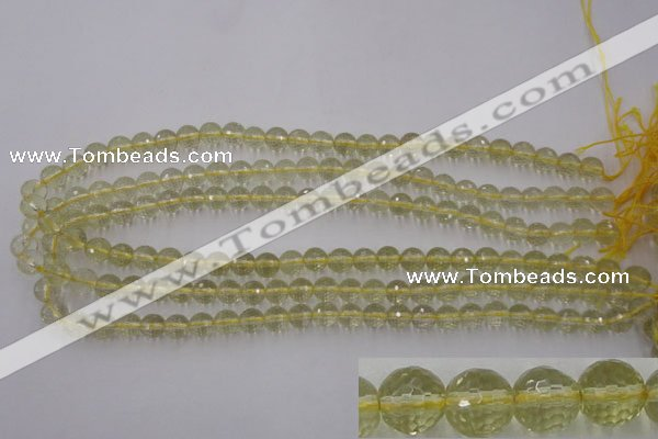 CLQ162 15.5 inches 8mm faceted round natural lemon quartz beads