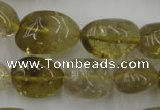 CLQ170 15.5 inches 12*16mm � 14*22mm nuggets natural lemon quartz beads