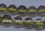 CLQ352 15 inches 8mm round natural lemon quartz beads wholesale