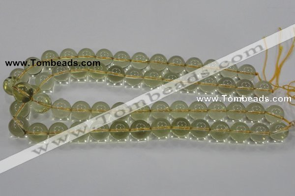 CLQ52 15.5 inches 10mm round natural lemon quartz beads wholesale