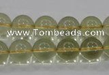 CLQ53 15.5 inches 12mm round natural lemon quartz beads wholesale