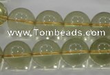 CLQ55 15.5 inches 16mm round natural lemon quartz beads wholesale