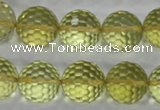 CLQ59 15.5 inches 14mm faceted round natural lemon quartz beads