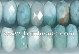 CLR113 15.5 inches 5*8mm faceted rondelle natural larimar beads