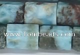 CLR123 15.5 inches 8*12mm faceted tube larimar gemstone beads